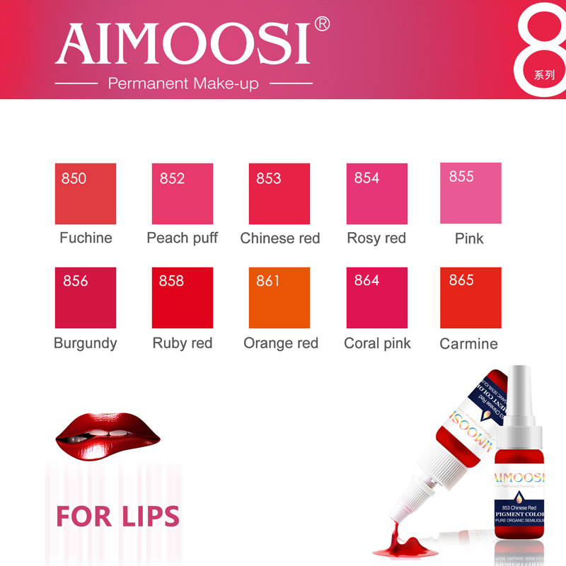 Купить с кэшбэком 3pcs/lot 3ml Aimoosi Nano Pigment Milkly For Permanent makeup Eyebrow&eyeliner&Lips Beauty Makeup Tattoo Ink