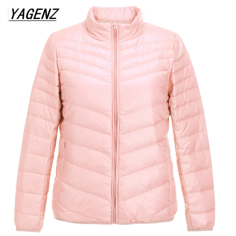 Winter New Women Short Down Jacket 2018 Solid Color Warm High Quality Cotton Outerwear Slim Collar Plus Size Overcoat 6XL B137