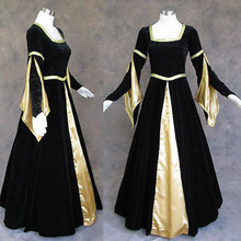 New Arrival Medieval Renaissance Gown Dress Costume Goth Wedding