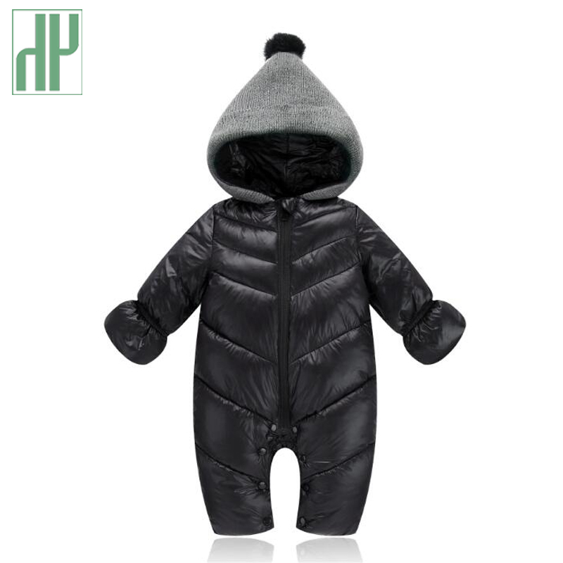BPrince Babies Horn Button Fleece Lined Ears On Hood Quilted Duck Down Snowsuit