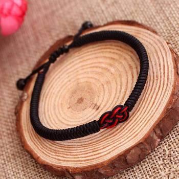 LKO nueva llegada nudo chino de la suerte pulsera de cuerda roja para hombre y mujer personalidad pulsera bonita