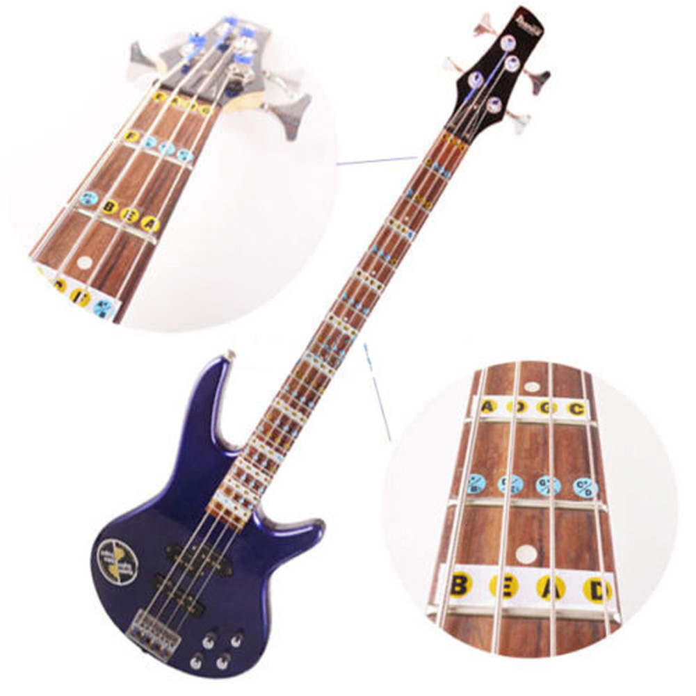 2Pcs Guitar Sticker Guitarra Fingerboard Stickers Bass Fretboard Scale Note Label Fret Sticker Bass Practice Guitar Accessories