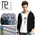 Thicken  Mens Hoodies and Sweatshirts autumn winter lovers casual with a hood  jacket 100% cotton men's coat 3colors#B22