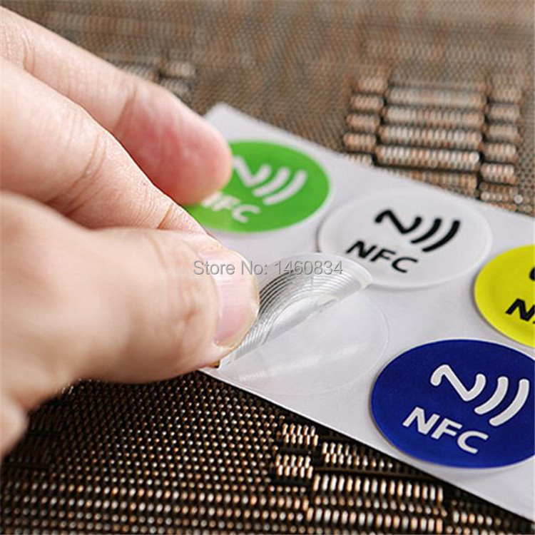 6 Pcs/lot  ISO14443  13.56Mhz NFC tag  Ntag216 888bytes NFC Sticker Compatible with any smart phone with NFC function iso certificated swordlike atractylodes rhizome extract 100g lot