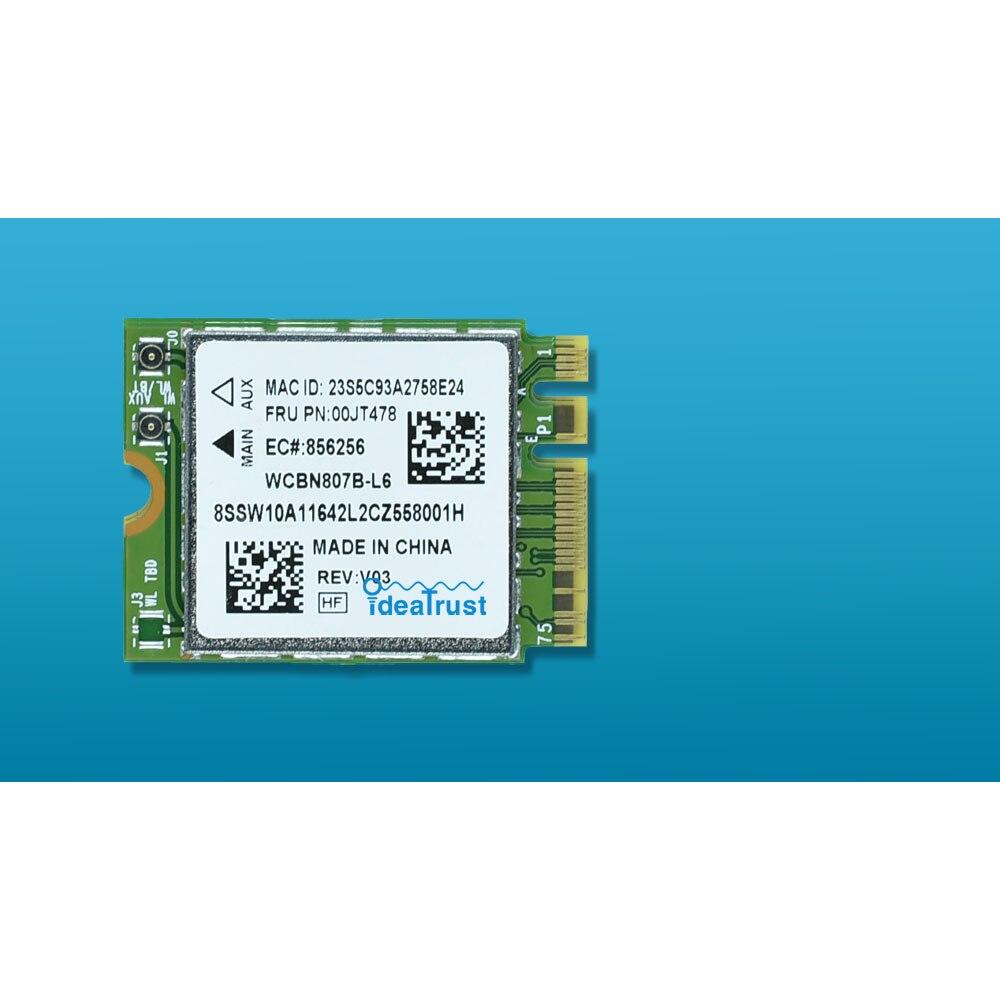 Placa de Rede Wi-fi para Lenovo Mbps Bluetooth4.1 Ngff M.2 m2 Wlan Thinkpad Laptop Fru Bcm94356z 00jt478 802.11ac 867