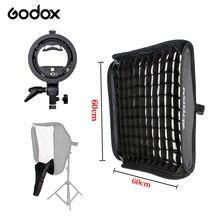 Фотографии свет honeycomb сетка flash отражение и godox 60 см * 60 см вспышка Softbox + S тип Кронштейн Комплект для Вспышки Speedlite студия