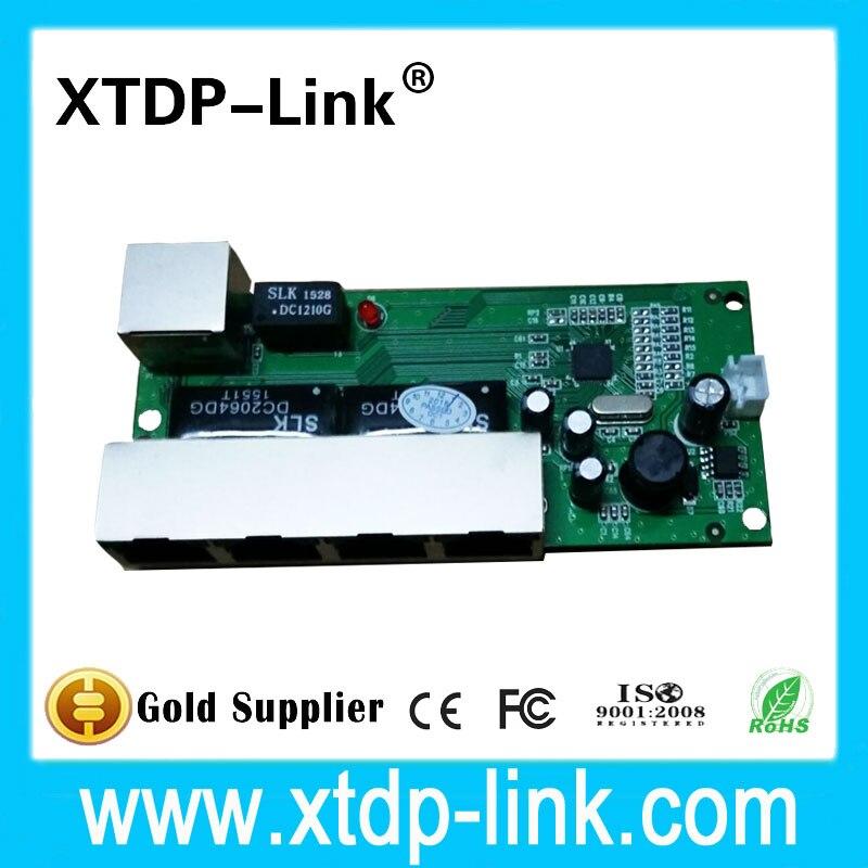 mini 5 port 10 100mbps network switch 5 12v wide input voltage smart ethernet pcb rj45