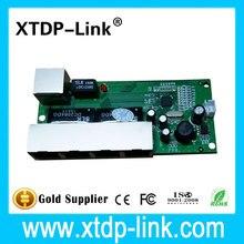 Mini 5 порта 10/100 мбит сетевой коммутатор 5-12 В широкий входное напряжение смарт ethernet rj45 pcb модуль с led встроенный