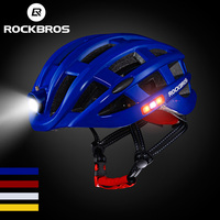 ROCKBROS USB Light Bicycle Helmet Ultralight MTB Bike Helmet Intergrally Molded Men Women Safe Mountain Road