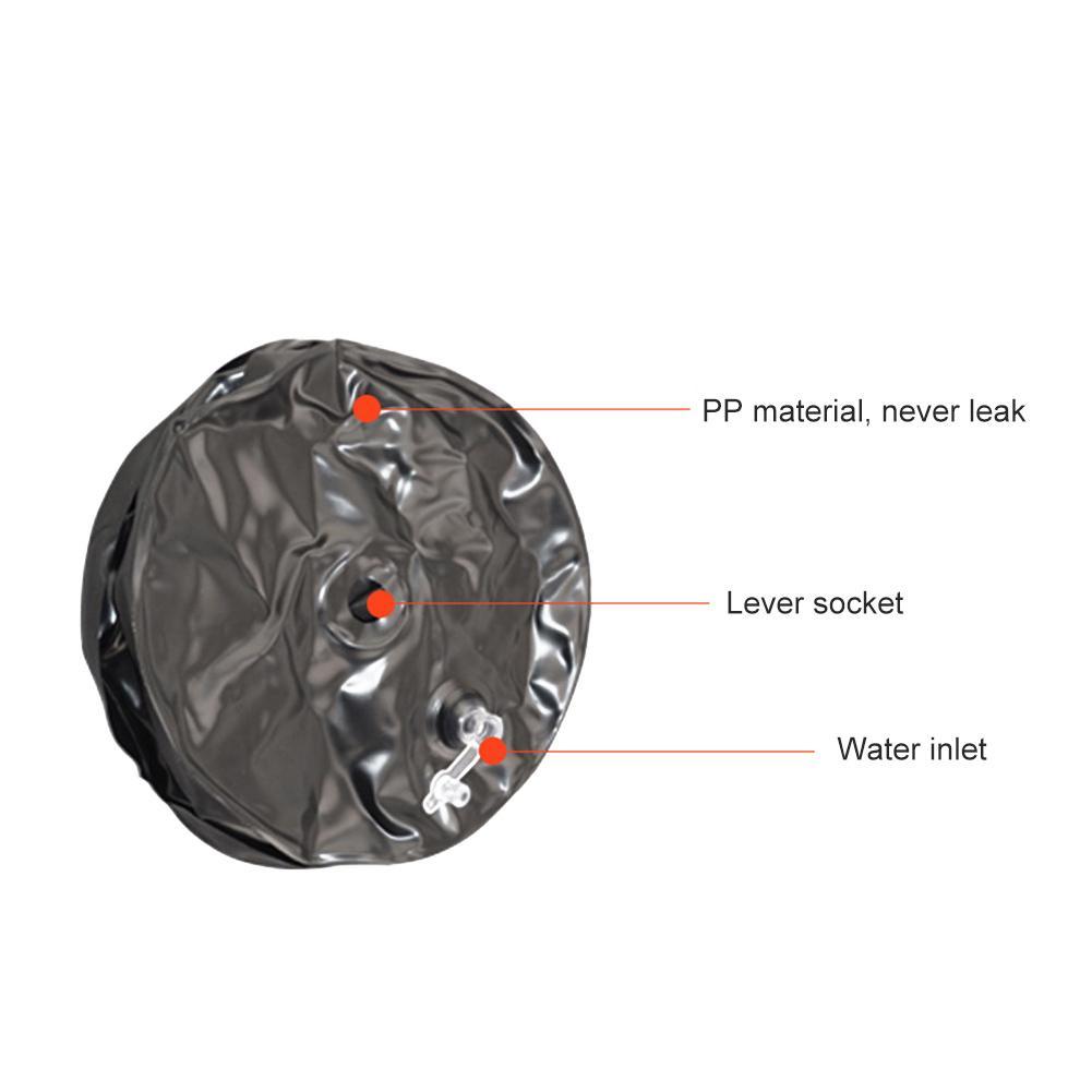 Haltères de voyage portatifs d'entraînement respectueux de l'environnement réglables remplis d'eau d'haltère de forme physique de Muscle de bras d'hommes de 25 kg - 6