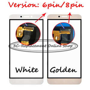 1PCS For Letv LE 1S X500 X501 Front Outer Glass Lens Repair Touch Screen Outer Glass+Free tracking(Version: 6pin/8pin)(China)