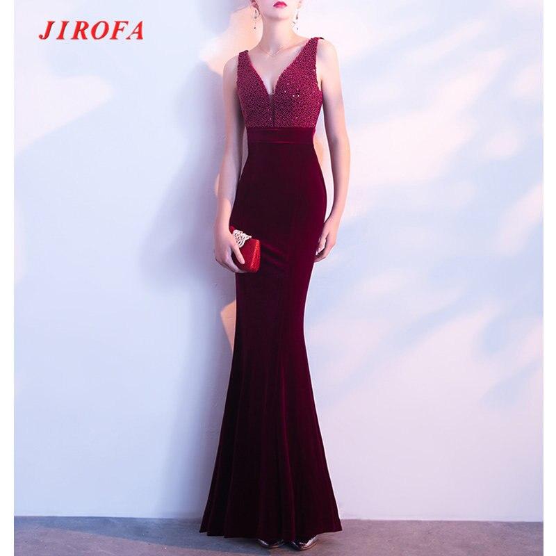2017 Summer Long Dress Women Elegant Party Mesh Deep V Neck Trumpet Dress Evening Formal Party Prom Wear Vestidos Velvet
