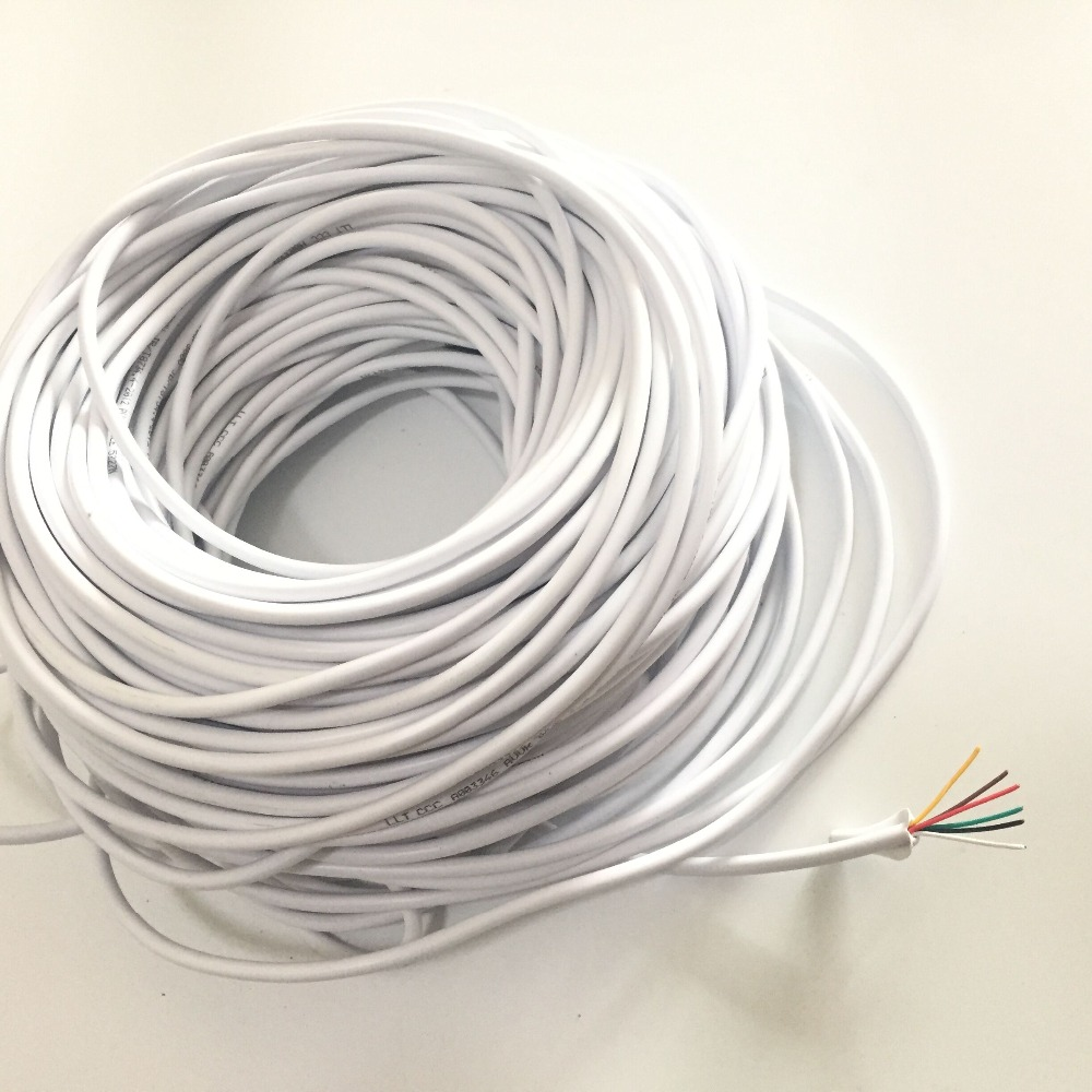 40M 0.2x 6P 6 Wire Cable 10M/15M/20M/30M For Video Intercom Color Video Door Phone Doorbell Wired Intercom Cable