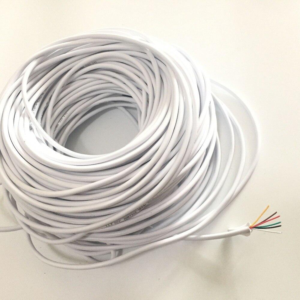 40M 0.3x 6P 6 Wire Cable 10M/15M/20M/30M For Video Intercom Color Video Door Phone Doorbell Wired Intercom Cable