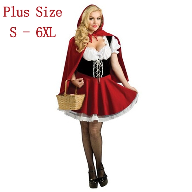 Hot Sexy Dres Plus Size S M L XL XXL XXXL 4XL Costume Adult Little Red Riding Hood Costume Halloween Cosplay Costumes For Women