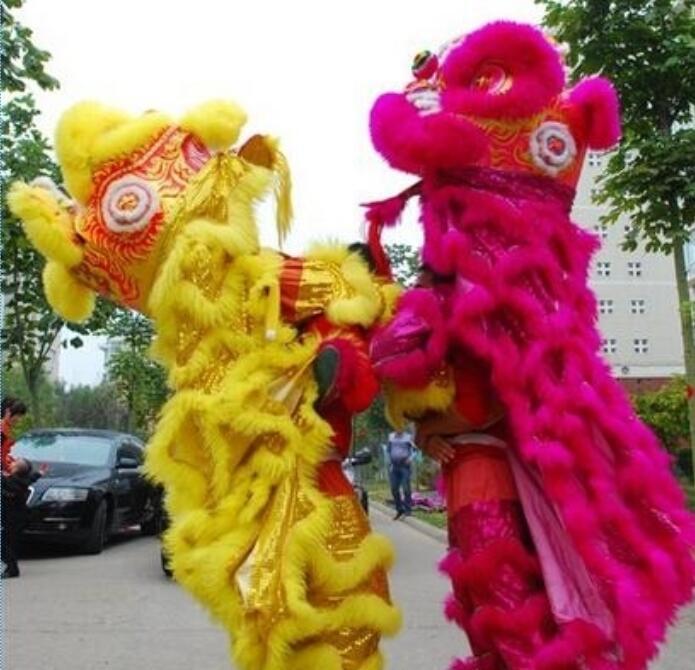 Outre-mer chinois célébrer les festivals Lion danse tenue cantonaise Lion danse costume Foshan laine fait à la main scène accessoires
