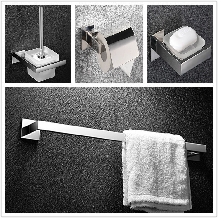 304 Нержавеющаясталь вешалка для полотенец полотенце кольцо крючок Аппаратные средства Наборы для ухода за кожей польский зеркало, набор для ванной sm00b