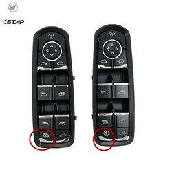 BTAP przedni lewy drzwi okno wyłącznik zasilania dla Porsche Panamera Cayenne Macan 2011 7PP959858RDML 7PP959858MDML