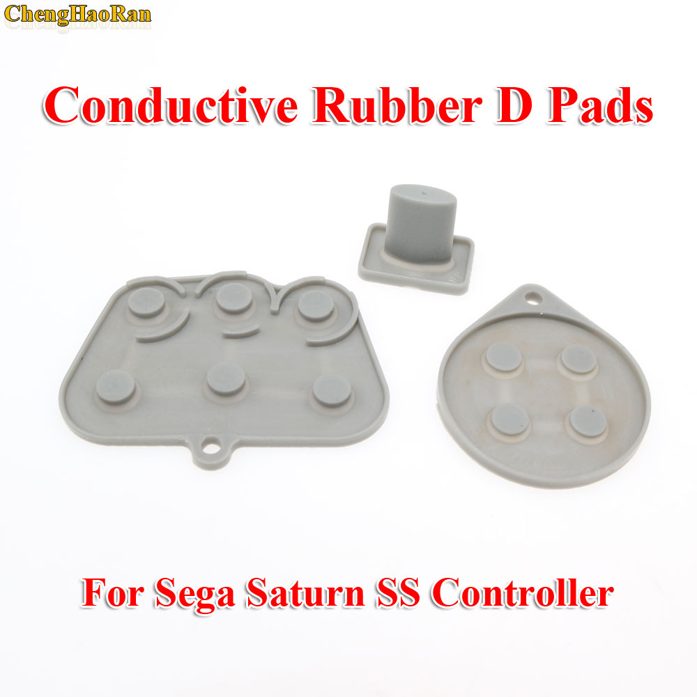 Image 3 - ChengHaoRan 2   10 sets  Repair parts for Sega Saturn SS Controller Conductive Rubber Pad Button Start Key Pads Button-in Replacement Parts & Accessories from Consumer Electronics