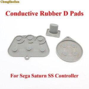 Image 3 - Chenghaoran 2 10 세가 토성 ss 컨트롤러에 대한 수리 부품 세트 전도성 고무 패드 버튼 시작 키 패드 버튼