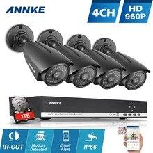ANNKE 4CH 960 P Система ВИДЕОНАБЛЮДЕНИЯ HD 1280*960 P 1500TVL NVR комплект Открытый ИК-Камера Ночного Видения комплект главная Система Видеонаблюдения