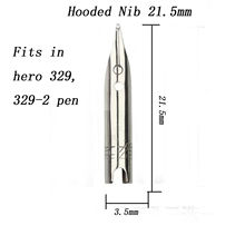 1Pc 21.5mm Hero Hooded F Nib For hero 329, 329-2