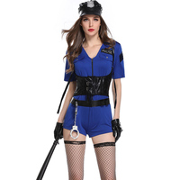 Sexy Cop Uniform Outfits Sexy Police Officer Costume Sexy Bodysuit Handcuffs Hat Halloween Costumes Cosplay Police Women Costume