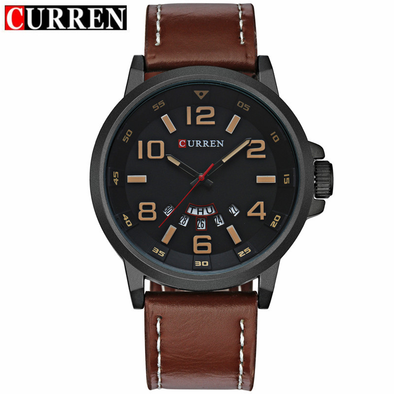 Luxury Brand CURREN Men Sports Watches Men Quartz Date Fashion Casual Leather Strap Army Military Wrist Watch Male Relogio 8240 curren new fashion casual quartz watch men top brand luxury leather strap analog sports military wrist watch relogio masculino