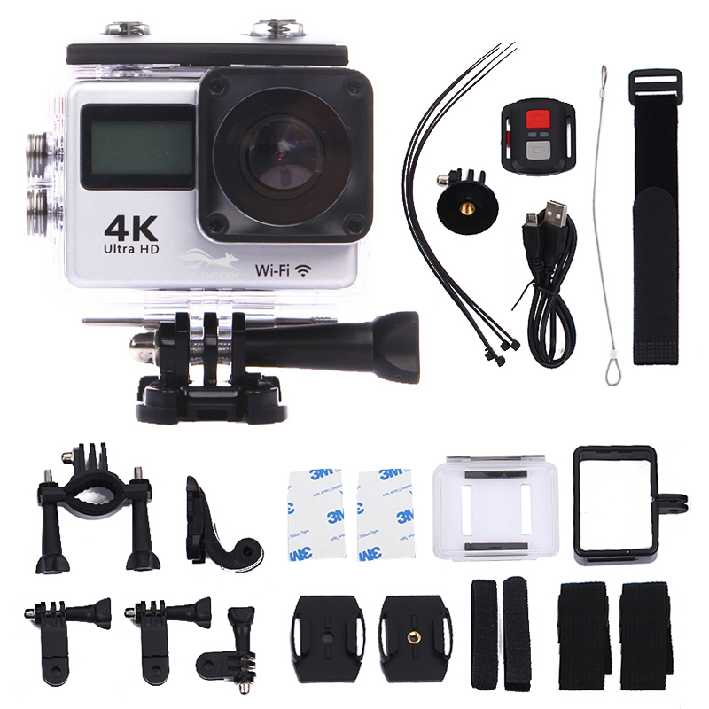 LCD Dual Screen Ultra HD 4K WiFi Sports Action Camera 16MP Wifi 1080P Waterproof Sports DV Bike Helmet Camera + Remote ControlLCD Dual Screen Ultra HD 4K WiFi Sports Action Camera 16MP Wifi 1080P Waterproof Sports DV Bike Helmet Camera + Remote Control