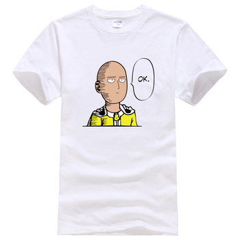 2018 summer T-shirt One Punch Man Hero Saitama Oppai anime cartoon men's T-shirts cotton hot t shirt men kpop brand clothing top