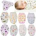 Newborn Infant Baby Boys Girls Cotton Soft Swaddle Swaddling Wrap Blanket Sleeping Bag 0-6 Months