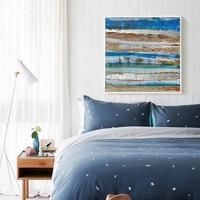2016 Summer Seashore Ocean Blue Abstract Wall Art Oil Painting Canvas Living Room Modern Loft Industrial
