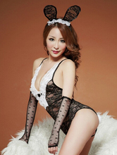 Free shipping, bunny costume, role playing clothing/Sexy lingerie, lace bunny rabbit uniforms, sexy costumes QQ035