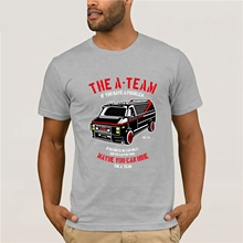 The A-Team Van Mens Funny 80's TV Programme T-Shirt Show  New Brand-Clothing T Shirts Top Tee High Quality for Man Better цена