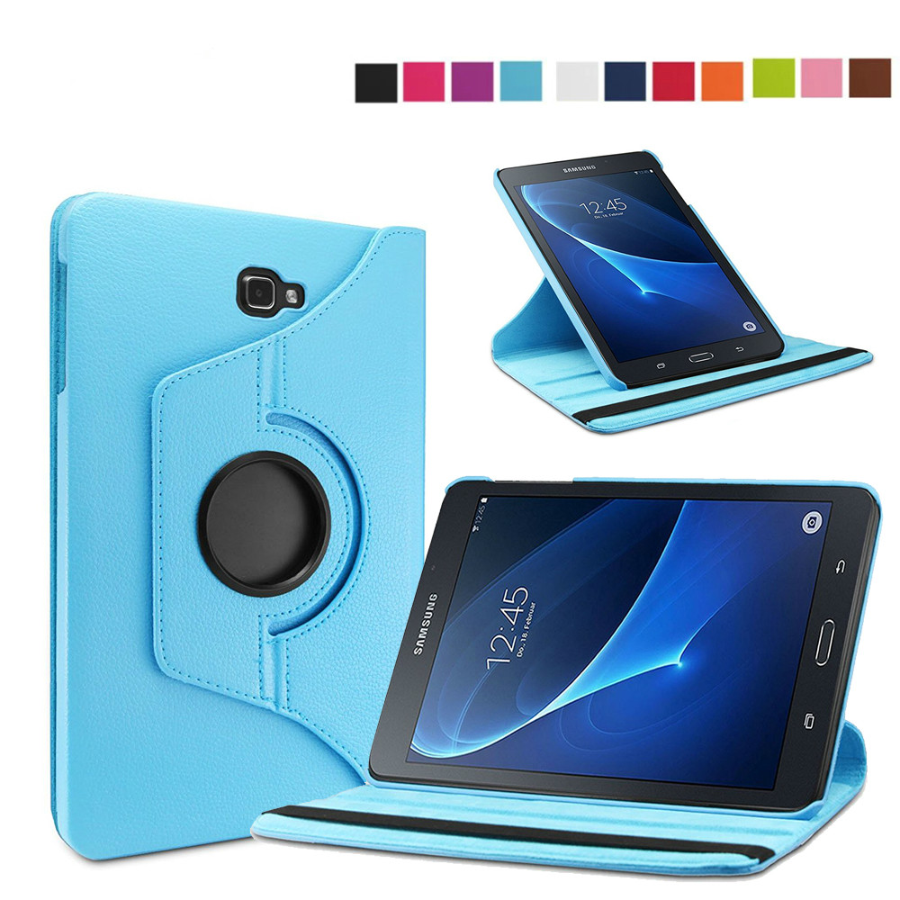 360 Degree Rotating Magnetic Synthetic Leather Case Stand Smart Cover for Samsung Galaxy Tab A 10.1 inch Tablet T580 T585 360 degree rotating flip folio swivel stand smart case cover for samsung galaxy tab a 9 7 inch sm t550 tablet screen protector
