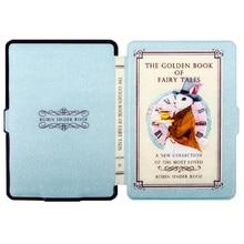 Caso de la cubierta de cuero Para El Nuevo amazon kindle paperwhite 1/2/3 caso de cuero + protector de pantalla + stylus + número de pista