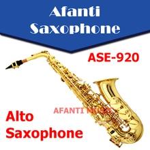 Afanti Music Eb tone / Brass body / Gold finish Alto Saxophone (ASE-920)