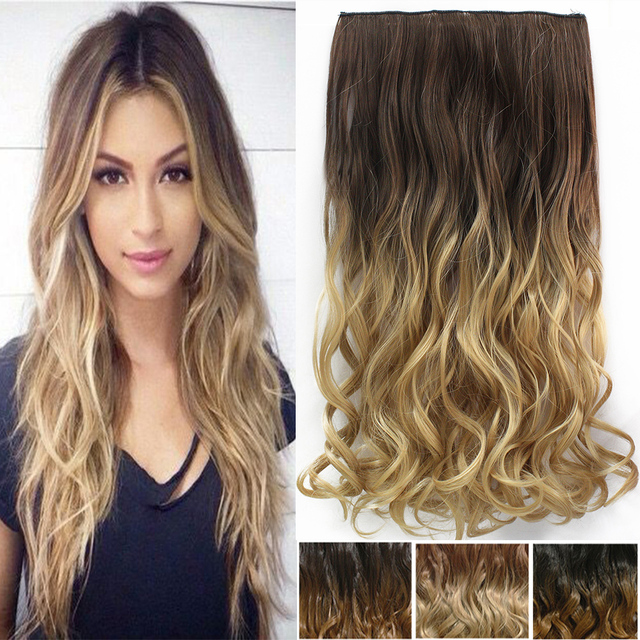 5 combs 2tone 24 inch one piece curly hair clip in ombre dip dye 5 combs 2tone 24 inch one piece curly hair clip in ombre dip dye synthetic hair pmusecretfo Gallery