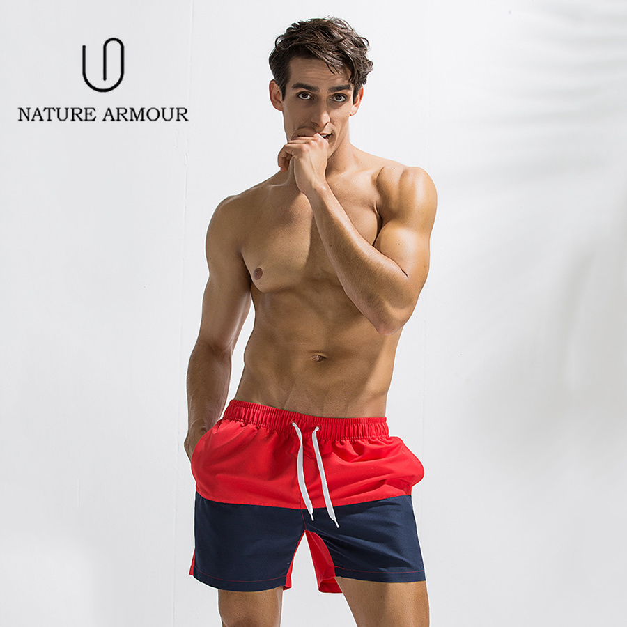 2019 Swimwear Mens Swim Briefs Men Swimming Trunks Maillot De Bain Homme Bathing Suit Bermuda Surf Beach Wear Man Board Shorts