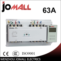 Jomall 63A 4 poles 3 Phase automatic transfer switch ats with English controller