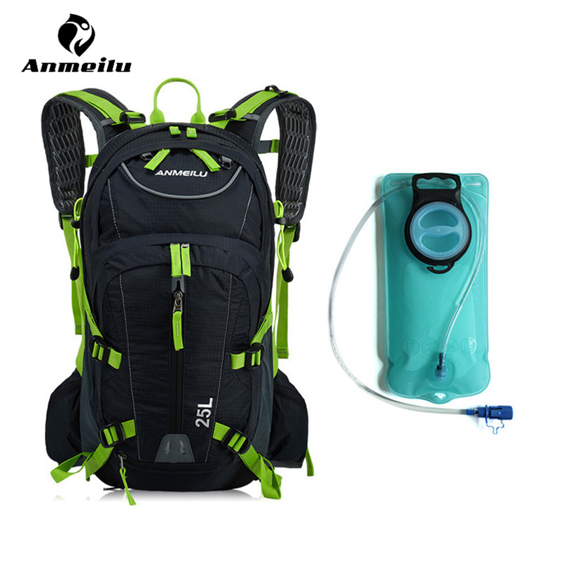 ANMEILU 2L Sport Water Bag Waterproof Nylon Climbing Hiking Bicycle Cycling Backpack Outdoor Travel Bike Hydration Pack Bladder anmeilu 20l bicycle backpack with helmet net rain cover 2l bike water bag waterproof outdoor cycling hiking hydration backpack