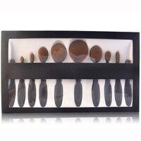 10 Pcs Professional Oval Makeup Brushes Extremely Soft Toothbrush Makeup Brush Set Foundation Powder Brush Kit