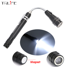 Telescopic 360 Degree Flexible LED Flashlight Torch Camping Tactical Pick Up Tool 3LED Lamp Lanterna included 4xLR44 batteries