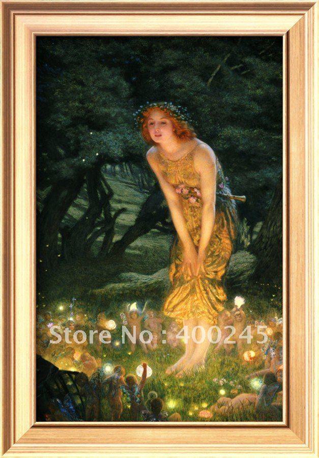 Портрет масляными красками, картина маслом, Репродукция в середине лета эва Эдвардом Робером хугхесом, ручная работа, высокое качество