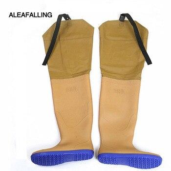 Aleafalling/бежевые, с резиновой подошвой 80 см, с высоким подъемом, сельскохозяйственные, фермерские сапоги на плоской подошве, с нескользящей по...