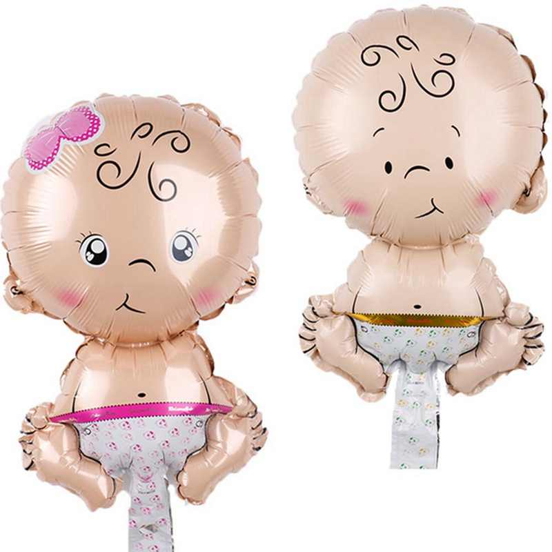 5pcs/lot Mini Baby Shower Girl Boy Foil Balls Toys Baby Kids Gifts