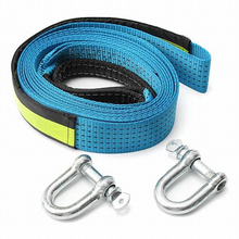 Car Tow Strap Racing Auto Winch Rope Nylon 5M 8Tons recovery Towing cable Strap Belt Heavy Duty Off Road Accessories Metal Hooks цена в Москве и Питере