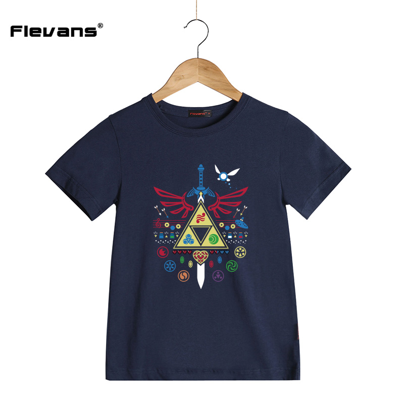 Kids Clothes Boys Girls Short-sleeve T-shirts The Legend of Zelda Print Summer Brand Child Clothing T Shirts O-neck Tees Tops