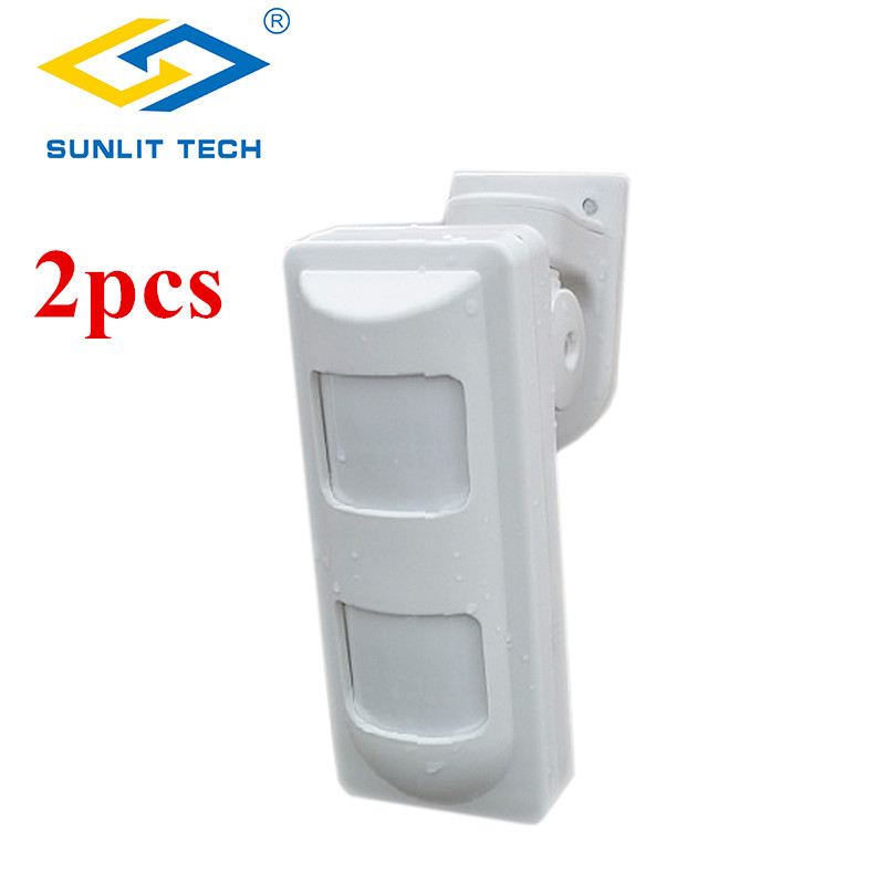 2pcs Wireless Dual PIR Sensor Pet Immune Motion Detector 433Mhz Alarm Sensors For Wireless GSM/PSTN Home Security Alarm System цена