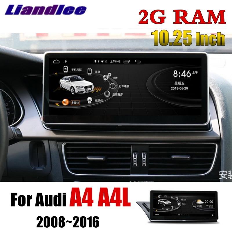 цена Liandlee Car Multimedia Player NAVI 10.25 Inch 2G RAM For Audi A4 A4L B8 8K 2009~2016 Original Car Radio CarPlay GPS Navigation
